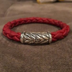 David Yurman Chevron Bracelet- Red